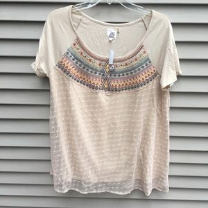 NWT Anthropologie Lilka embroider layer tunic top
